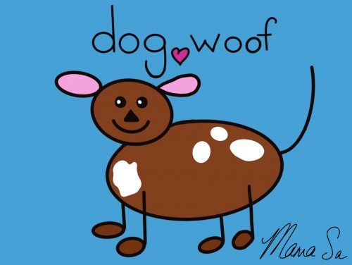 Cover image of Dog woof drawing eBook
