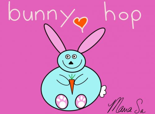 Cover image of Bunny hop drawing eBook