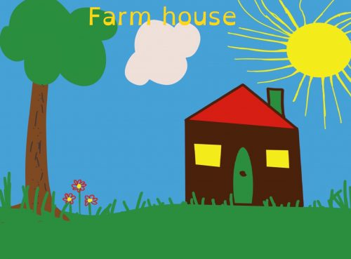 Cover image of Farm house drawing eBook