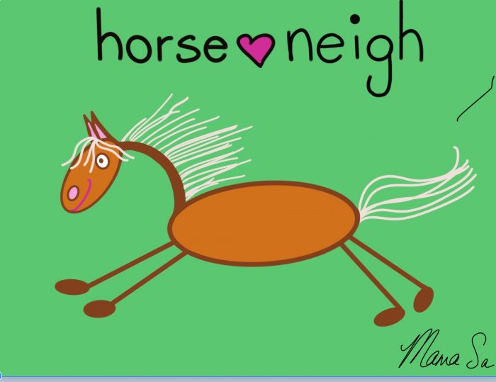 Cover image of Horse neigh drawing eBook