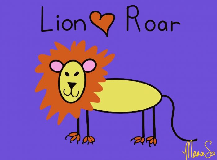 Cover image of Lion roar drawing eBook