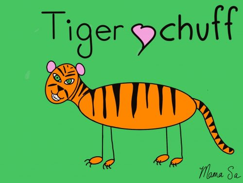 cover image of Tiger chuff drawing eBook